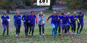 Global Team Runs Together with Kathrine Switzer Boston Marathon 261 Fearless