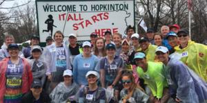 Hopkinton run - 261 Fearless - team