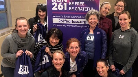 Team from 261 Fearless running club