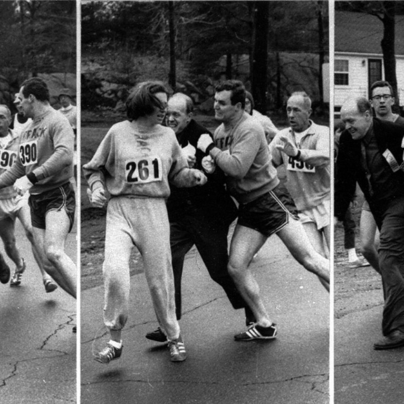 Kathrine Switzer Boston [Photo Credit: Boston Herald]