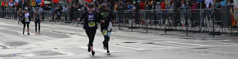 Marathon - 2 women running - 261 fearless
